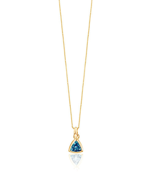 Blue Topaz Charm Necklace