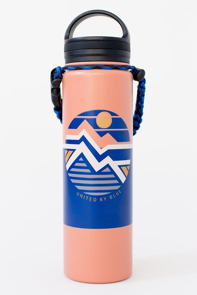 22 oz. Geo Mountain Stainless Steel Water Bottle