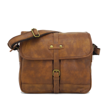 Takamatsu Messenger Bag Wood Brown