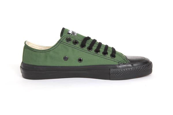Sneakers Lowcuts Olive Organic Fairtrade