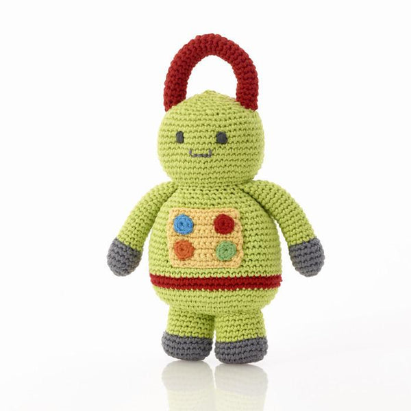 Green Fair Trade Robot Rattle