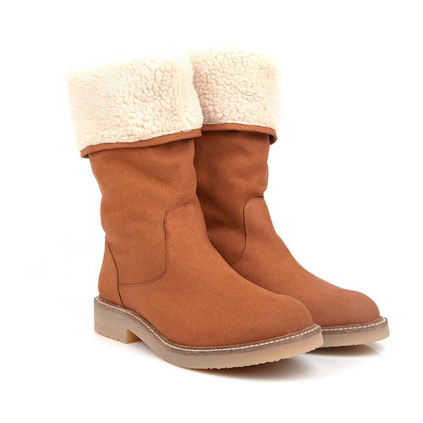 Misty Camel Faux Sheepskin Vegan Boots