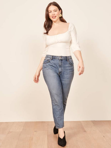 Extended Sizes Julia Crop High Cigarette