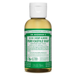 Dr. Bronner's Fair Trade & Organic Castile Liquid Soap - Almond (2oz.)