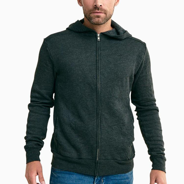Recycled Cotton and Organic Cotton Mesa Zip Hoodie