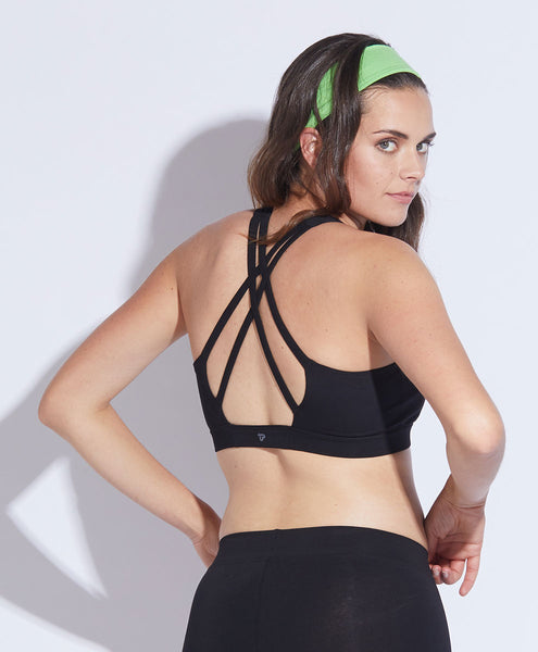 Strappy-Back Sports Bra