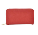Mechaly Women's Katie Red Vegan Leather Wallet