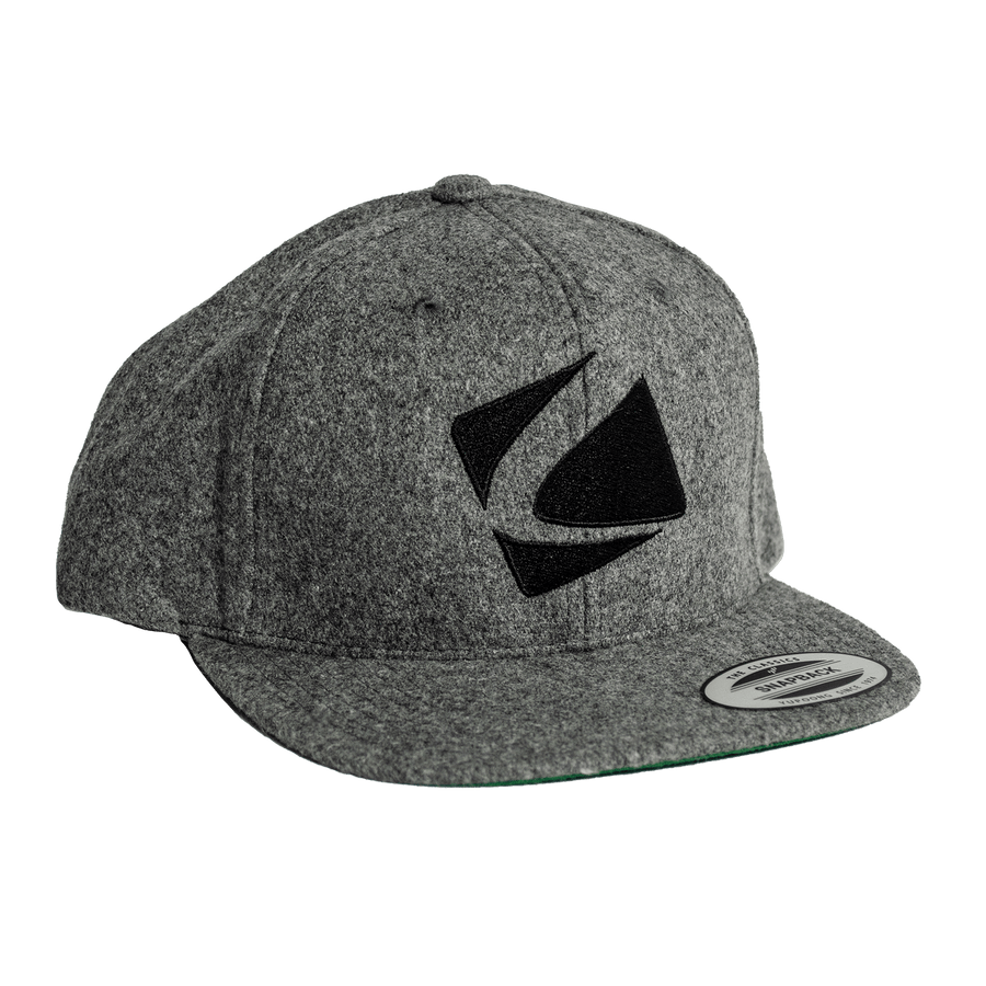 Grey Flat Brim Hat