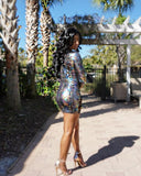 Dont Lust Foil Mini Dress