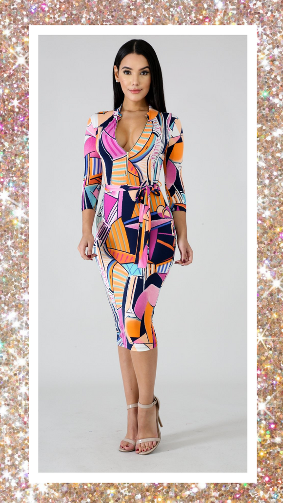 Color Pop Body-con Dress