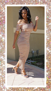 In-between The Lines Midi Dress