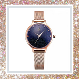 Sparkle Blue Rose Gold Quartz Watch