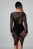 Lacy Body-Con Dress