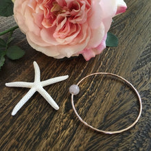 Load image into Gallery viewer, west_of_the_waves_rose_quartz_bangle