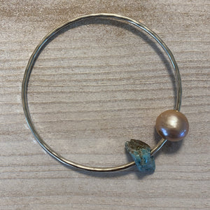 Bangle w/ Pearl & Turquoise