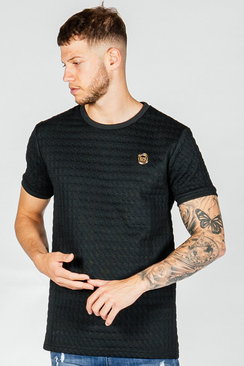 Men's Dogtooth T-Shirt in Black