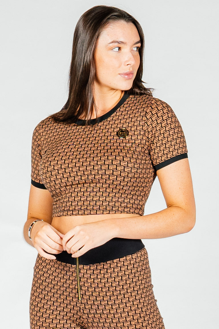 Women's Panther T-Shirt in Brown