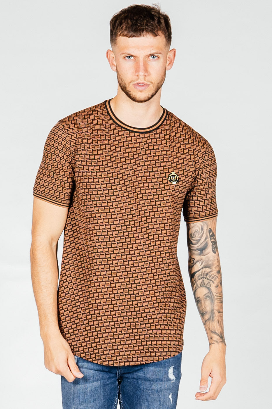 Men's Bash T-Shirt in Brown
