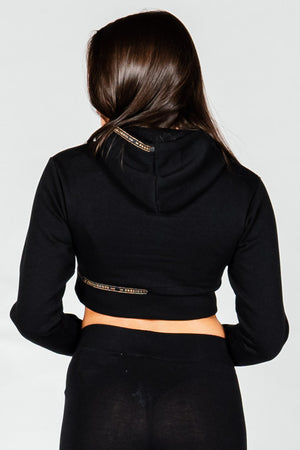 Women's Anchor Hoodie in Black