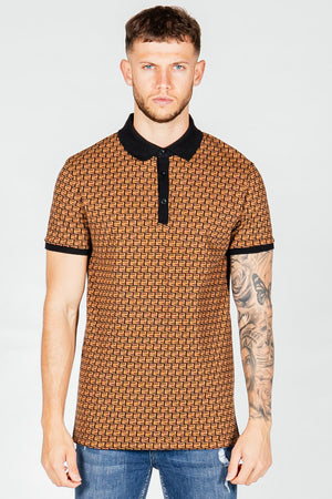 Men's Kell Polo T-Shirt in Brown