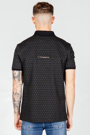 Men's Kell Polo T-Shirt in Black