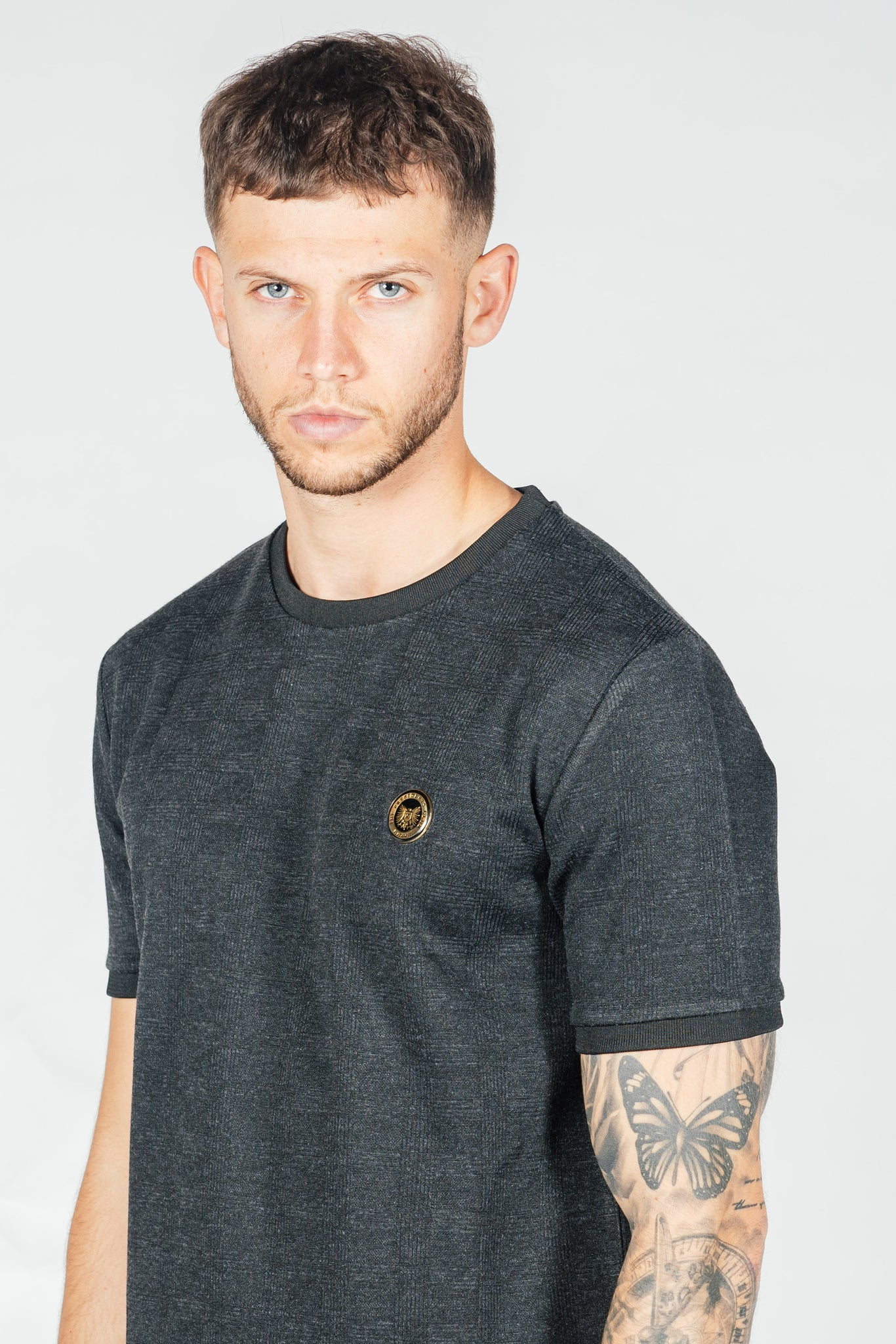 Men's Grid T-Shirt in Black