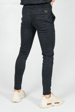Men's Grid Pants in Black