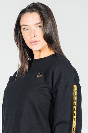 Women's Figaro Sweatshirt in Black