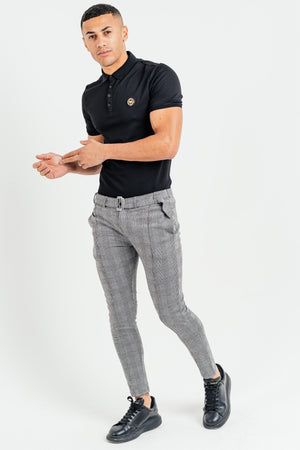 Men's Check Pants in Grey