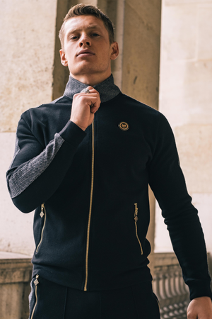 Men's Victor Track Top in Black