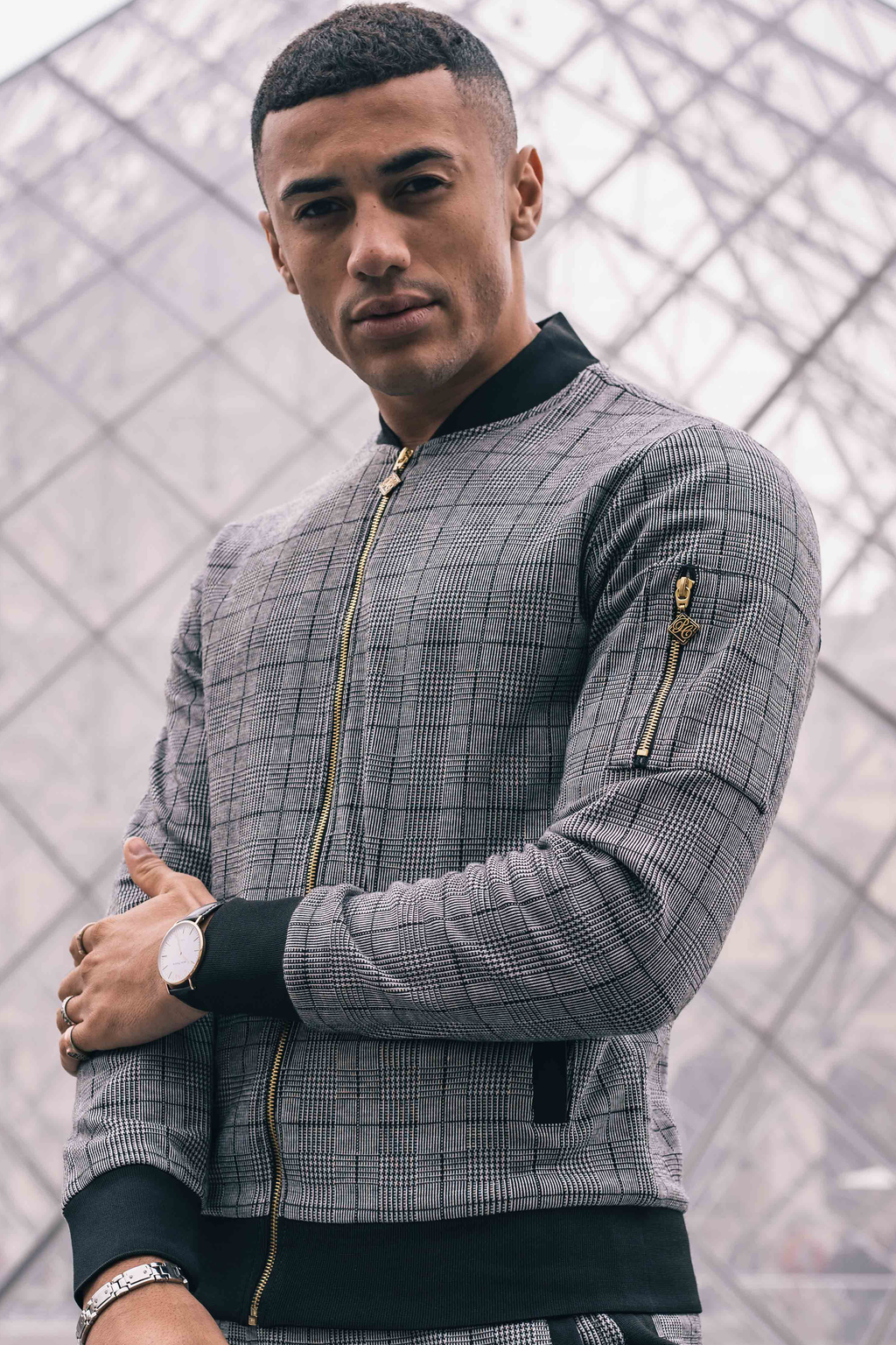 Men's Caption Track Top in Grey