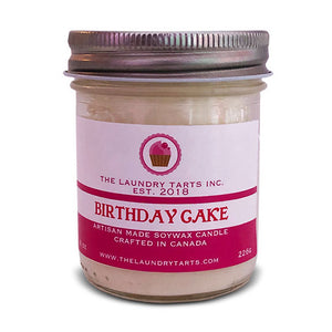 Soy Wax Candle - Birthday Cake Scent - The Laundry Tarts
