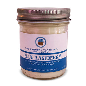 Soy Wax Candle - Blue Raspberry Scent - The Laundry Tarts