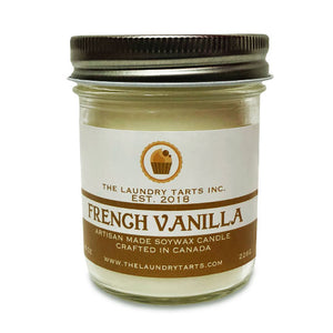 Soy Wax Candle - French Vanilla Scent - The Laundry Tarts