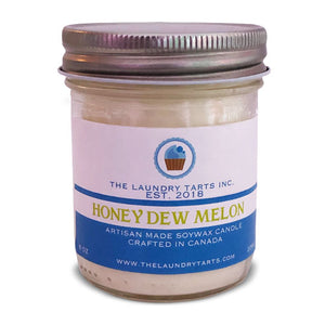 Soy Wax Candle - Honey Dew Melon Scent - The Laundry Tarts