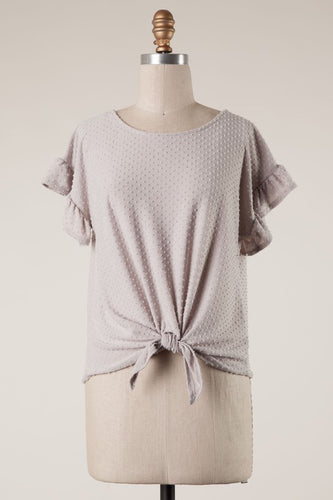 Devon Swiss Dot Knot Top