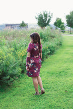Load image into Gallery viewer, Never Alone Dress - Burgundy Floral