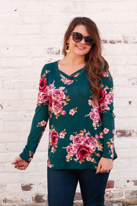 Field of Dreams Floral Blouse - Teal