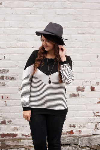 No Worries Zig Zag Stripe Top