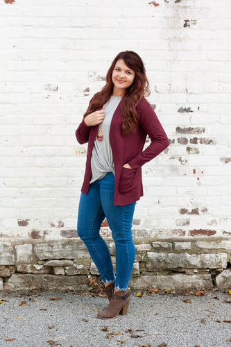 Annabeth Cardigan in Burgundy - Deal of the Week