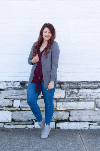 Annabeth Cardigan in Gray - Deal of the Week