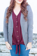 Load image into Gallery viewer, Annabeth Cardigan in Gray - Deal of the Week