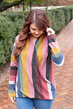 Load image into Gallery viewer, To The Moon And Back - Striped Crossover Sweater