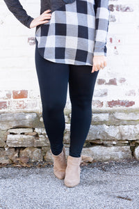 Fleece-Lined Leggings in Black - Deal of the Week
