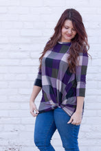 Load image into Gallery viewer, Just Be Kind Checkered Twist Tee
