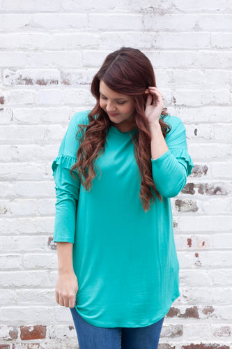 Singing To The Sky Tunic - Bright Teal