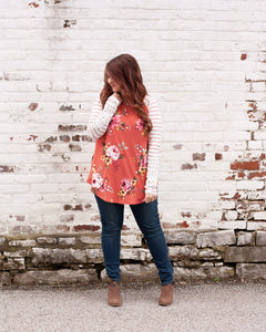 Never Let Go Raglan Tee With Lace
