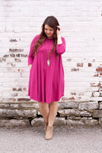 Load image into Gallery viewer, Everly Dress in Magenta - Deal of the Week