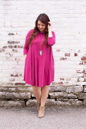 Everly Dress in Magenta - Deal of the Week