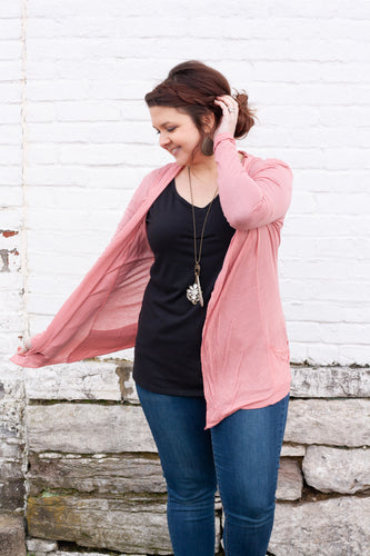 Jinny Cardigan in Dusty Rose - Deal of the Week